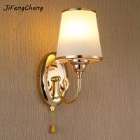 Simple Modern Wall Mounted Bedside Reading Lamps 110 220V Crystal Wall Sconce E27 Led Wall Lamp Reading Lamps Fixtures