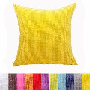 Corduroy fabric cushion cover