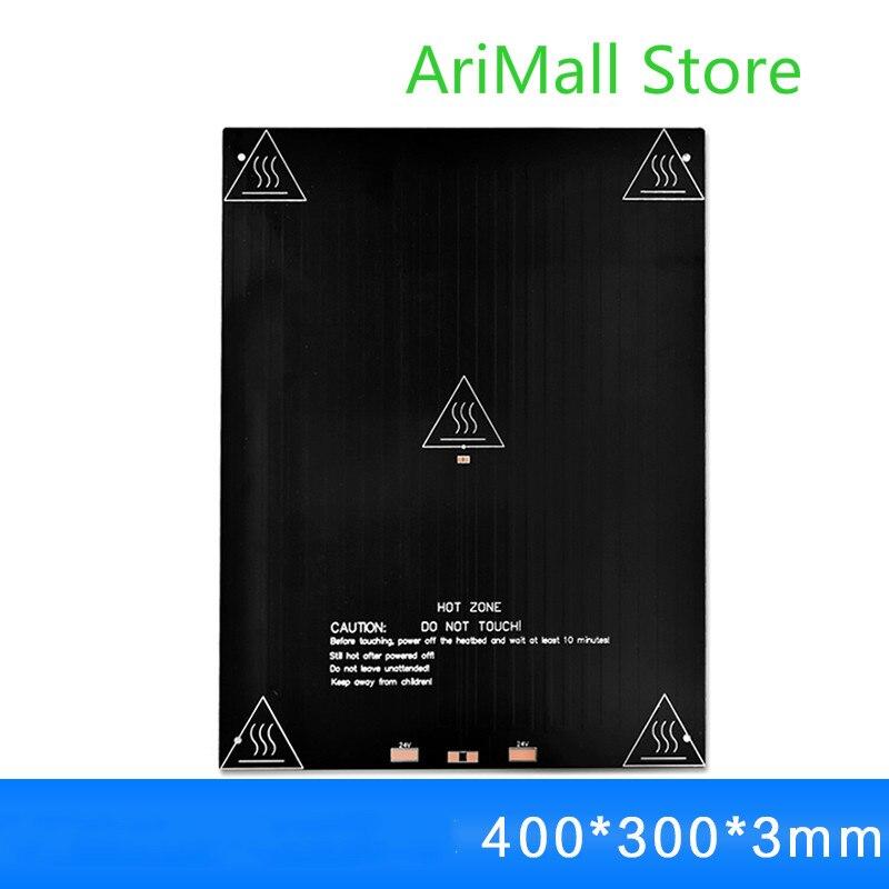 3D imprimante accessoires MK3 aluminium substrat de chauffage lit 400*300*3mm chauffage hot lit