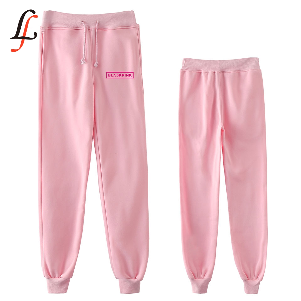 Blackpink Harajuku New Hip Kpop Fashion Casual Jogger Pants New Casual Warm Fashion Pants Slim Kpop Men/Women Pants