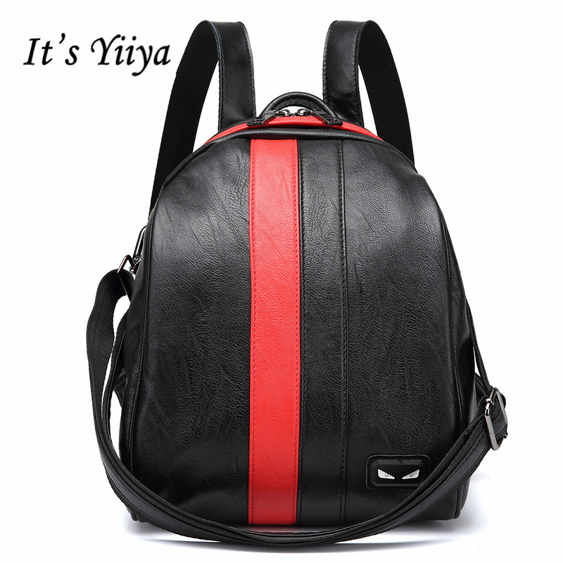 It's Yiiya Genuine Leather Sheepskin Women Luxury Backpack Preppy Style Famous Designer Fashion Student Backpacks XK8032 3 28 sale price 2016 new designer brand fashion black genuine leather women s backpacks preppy style women backpack bolsas mochi