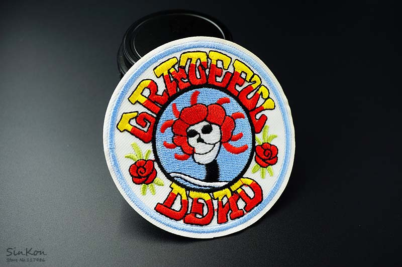 Grateful dead 90x90cm diy patches cloth patch badge embroidered dsc03868 solutioingenieria Image collections