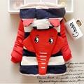 Casacos de Inverno Menino da criança de Algodão de Manga Longa Com Capuz Crianças Roupas Meninos Caráter Elefante Casaco de Inverno do Menino para 1-3 T