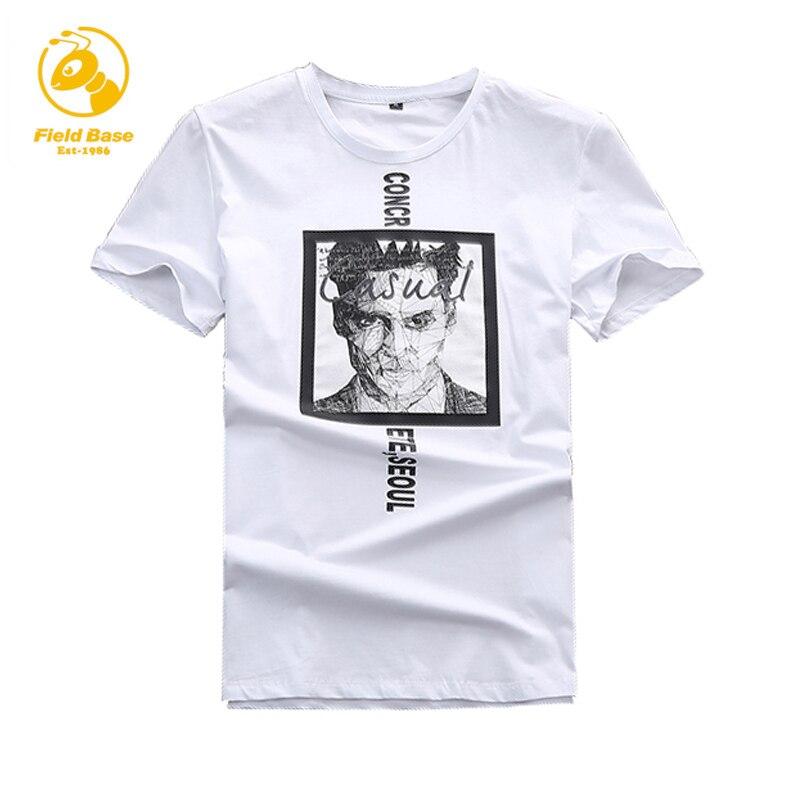 Field Base Brand T shirt Summer Style Cotton Short Sleeve Men T Shirt Casual Mens Tshirt