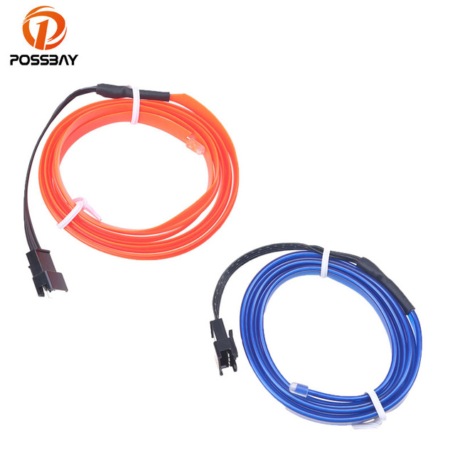 POSSBAY 2M LED Flexible Chasing EL Wire Neon Glow String Rope Light ...