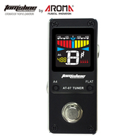 Guitar Bass Pedal Tuner Chromatic True Bypass Pitch Range 430Hz to 450Hz 4 Flats Tuning Options High Definition Color Screen