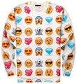 Emoji Толстовка Мужчин и Женщин Унисекс 2017 Новая Мода Harajuku 3D Печати Повседневная Crewneck Пуловеры Бесплатная Доставка