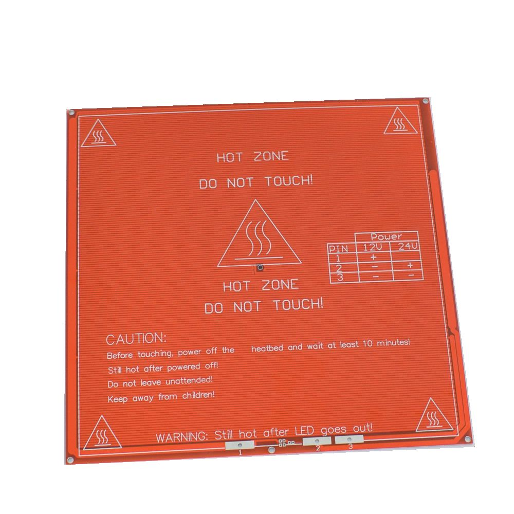 Hot Sale 1PCS Red PCB Heated Heat bed Heatbed MK2B Upgraded MK2A for Mendel RepRap CNC 3D printer Hot Bed HotBed Support 12V 24V