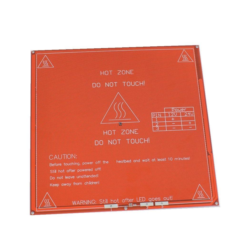 Venta caliente 1 unids rojo PCB climatizada calor cama heatbed MK2B actualizado MK2A para Mendel reprap CNC 3D impresora caliente bed hotbed soporte 12 V 24 V