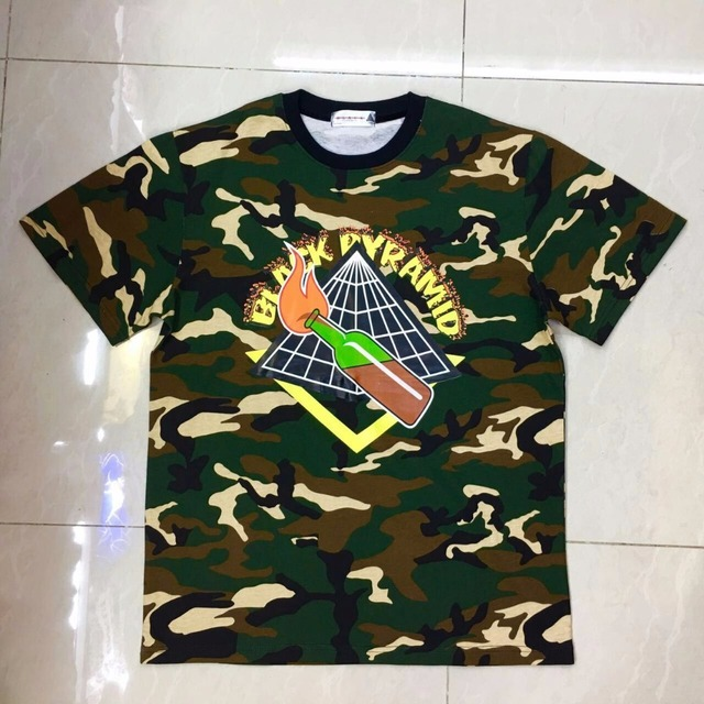 Brand BLACK PYRAMID T Shirts Men Hip Hop Tee Harajuku Shirts for Men Camisa Masculina Swag T Shirt with dgk Short Sleeve
