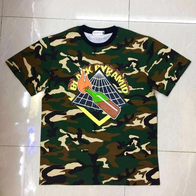 Marca PIRÂMIDE PRETO T Camisas Dos Homens Hip Hop Tee Harajuku Camisas para ganhos com a camisa de t dgk dos homens camisa masculina de manga curta