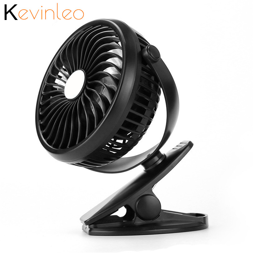 360 Degree Adjustable Portable USB 3 Speed Adjustable Mini Fan Oscillating Clip On Desk Baby Strolle blue green pink fan mini fan clip style portable fan 3 grear 360 degree rotate new design usb cooling