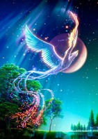 New Diamond Mosaic Full Diamond Embroidery Beads Bird Phoenix Tree Woods Animal Diamonds Cross Stitch Painting