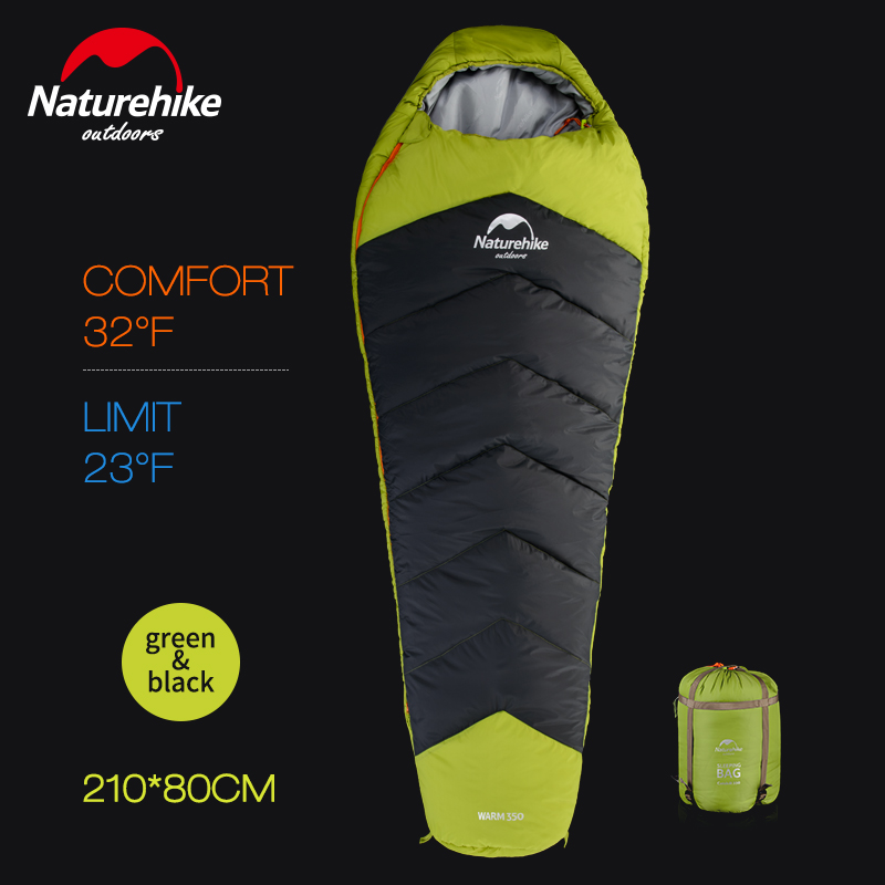 Naturehike fish bone sleeping bags, mummies adult outdoor autumn and winter sleeping bags ultra-light leslea newman heather has two mummies