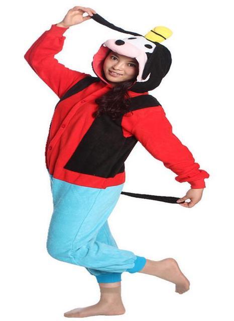 7ce5b91dcbd4 Hot Adults Halloween Party Costumes Popular Carnival Costumes Goofy Onesie  Cute Goofy Dog Pajamas Sleepwear Costumes