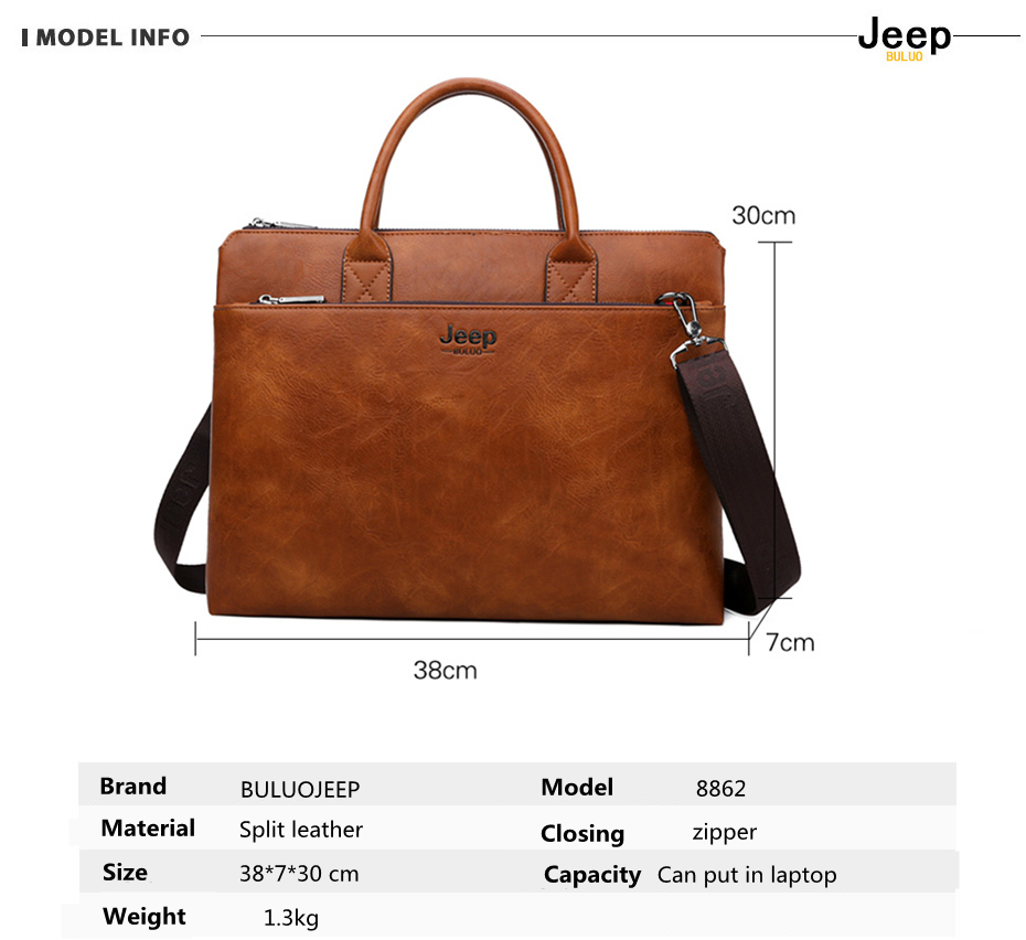 HTB1oK8DRpzqK1RjSZFvq6AB7VXaD JEEP BULUO Brand High Quality 14 inch Laptop Business Bags Men Briefcases Set For Handbags Leather Office Large Capacity Bags