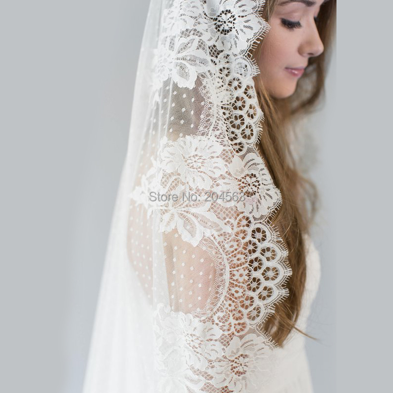 One Layer Veil Vintage Wedding Veil Tulle Long Bridal Veil for Bride without Comb