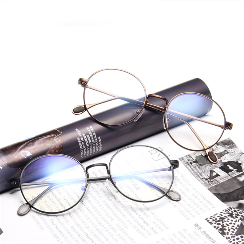 e96f7b574b4 Aliexpress.com   Buy Mincl Vintage round frame women metal glasses frame  fashion trend men s myopia reading glasses frame optical diopter glasses  YXR from ...