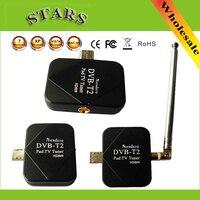 DVB-T2 Pad USB ТВ тюнер DVB-T2 DVB T2 DVB-T Dongle ТВ ресивер HD цифрового ТВ часы Live ТВ Stick для Android Pad телефона Tablet PC