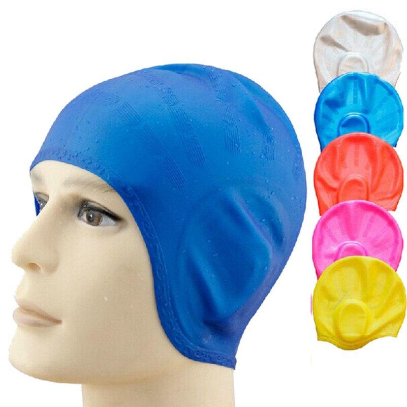 Unisex Adult Silicone Swim Swimming Hat Cap OneSize Fit All