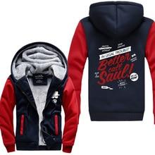 2016 new winter Breaking Bad men sweatshirts Better Call Saul print thicken fleece high quality Heisenberg hoodies jacket