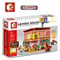 2017 Nova Rua Da Cidade Série Vista Casa de blocos de Construção de Brinquedo mcdonald Criança Montado Pequena Partícula Lepin Brinquedo Do Menino do Presente Do Desenhista Legoe