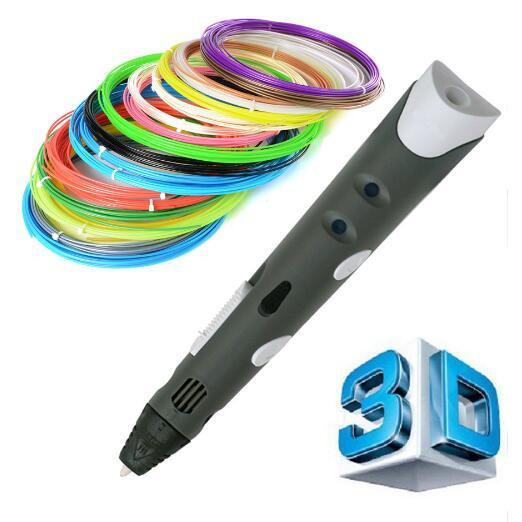 1.75mm abs/pla diy smart 3d pluma impresión 3d pluma de dibujo pluma Impresora Con El Filamento Diseño Regalo Creativo Para Los Niños pintura