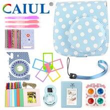 Caiul (10 in 1 )Shoulder Soft Camera case&Accessories For Fujifilm Instax Mini8/Mini8+/mini9 with classic pattern