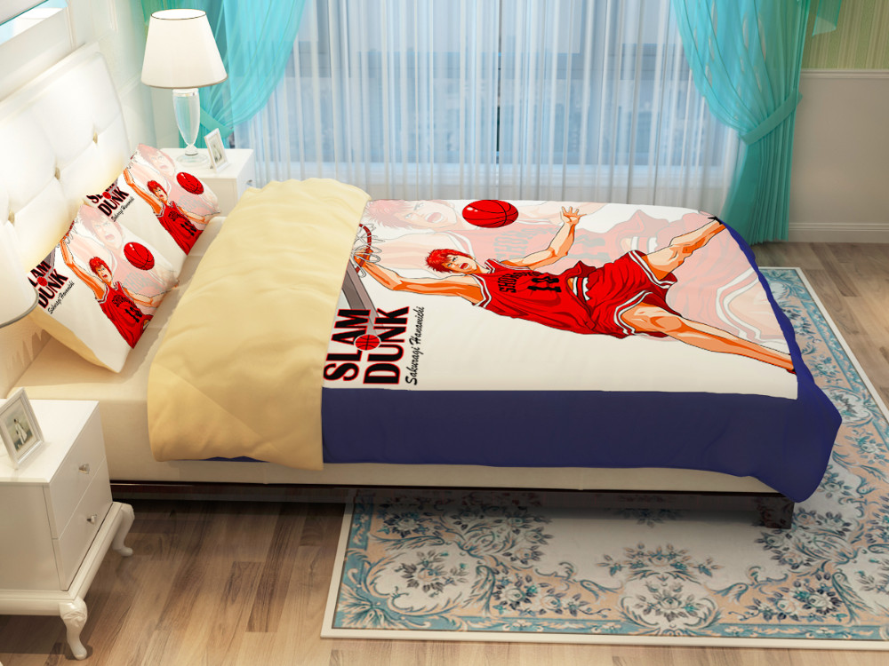Details about  /3D Slam Dunk I77 Japan Anime Bed Pillowcases Duvet Cover Quilt Cover Ang