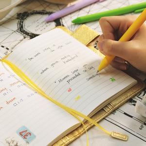 Image 2 - A5 A6 Parel licht PU leer losbladige notebooks cover hand reizen rekening cover DIY Planner Organizer hobo boek shell escolar