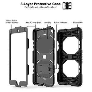 Image 5 - Voor Ipad 5th 6th Generatie Case Heavy Duty Bescherming Siliconen Pc Kickstand Case Cover Voor Ipad 10.2 9.7 2017 2018 ipad Air 2