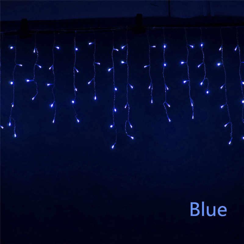 ไฟคริสต์มาสกลางแจ้งตกแต่ง5เมตรd roop 0.3-0.5เมตรนำผ้าม่านไฟสตริงน้ำแข็งปีใหม่งานแต่งงานพวงมาลัยแสง