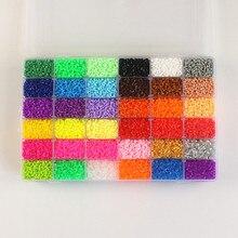 55000 Шт. 36 Цветов Коробка Роскошный Набор Hama Бисер 2.6 ММ Perler Бисер DIY Пазлы Творческие Головоломки Доска Baby Дети развивающие Игрушки