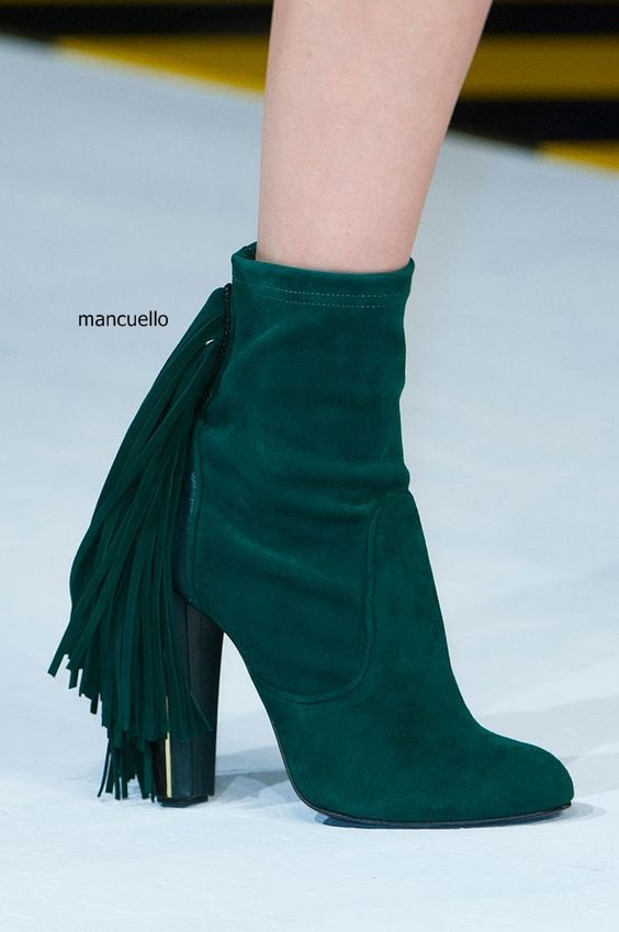 Women Elegant Dark Green Suede Fringe Block Heels Ankle Boots Comfortable Chunky Heel Round Toe Back Tassel Short Boots Hot Sell women elegant dark green suede fringe block heels ankle boots comfortable chunky heel round toe back tassel short boots hot sell