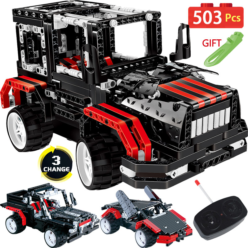 Technik RC Car 2WD LegoINGLYS Radio Remote Control Blocks Technic Vehicles Sports Off Road Cars DIY Bricks Toys For Boys 2 in 1 rc car compatible legoinglys radio technical vehicle green suv control blocks assembled blocks children toys gift