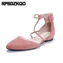 34fe91769 Chinês Sapatos De Casamento Do Dedo Do Pé Apontado Sandálias De Grife  Vermelho Mori Menina Apartamentos Japonês Genuíno Camurça .