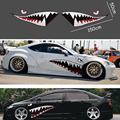 2X DIY акула рот зуб зубы графика ПВХ стикер автомобиля Наклейка для автомобиля водонепроницаемый