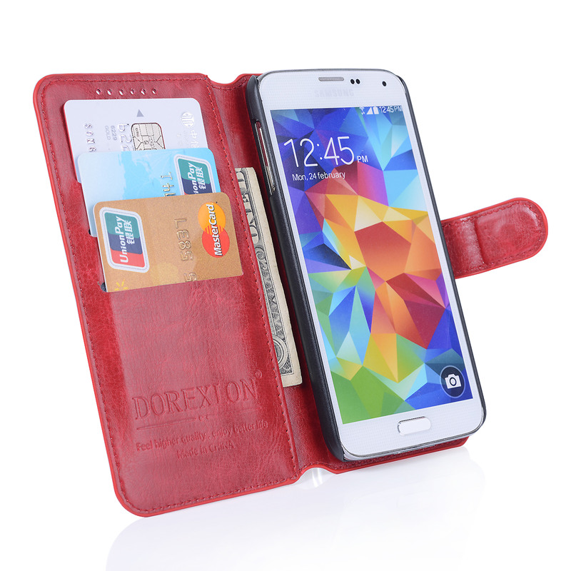 Image 3 - Wallet Leather Case for Samsung Galaxy Xcover 3 G388 G388F Cover Luxury Retro Flip Coque Phone Bag Stand With Card Holders-in Fitted Cases from Cellphones & Telecommunications