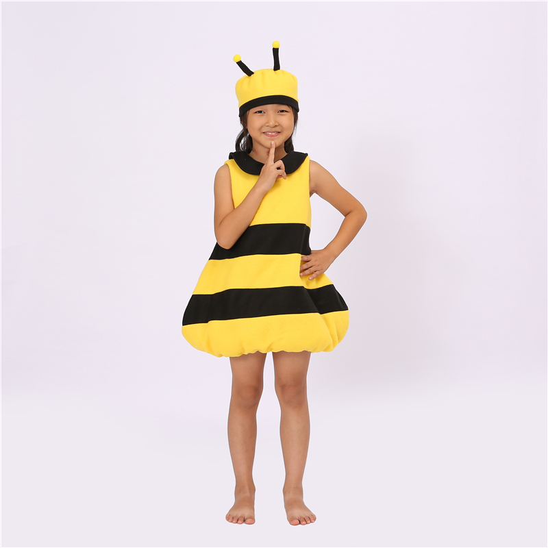 Cute Little Bee Jumpsuit Pajamas Adult Cosplay Children Onesies Sleepwear Costume Halloween Christmas Costumes for Kids