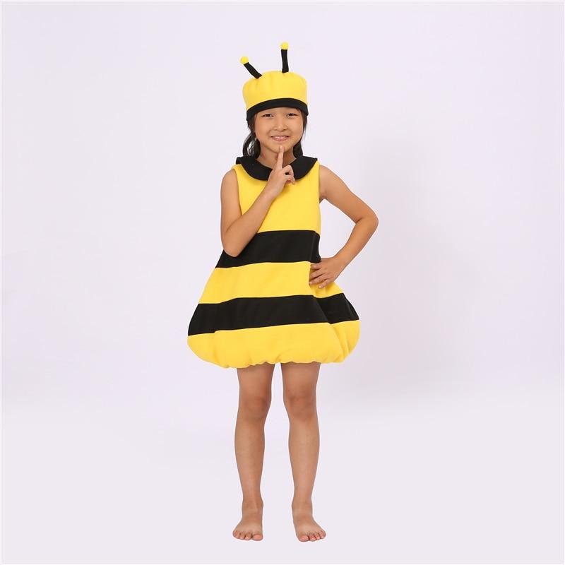 Cute Little Bee Jumpsuit Pajamas Adult Cosplay Children Onesies Sleepwear Costume Halloween Christmas Costumes for Kids