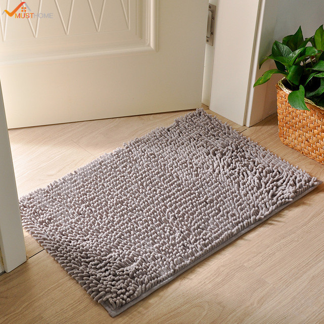 40*60CM Super Soft Microfiber Bathroom Rugs Non Slip Shag Bath Mat For  Kitchen Bedroom