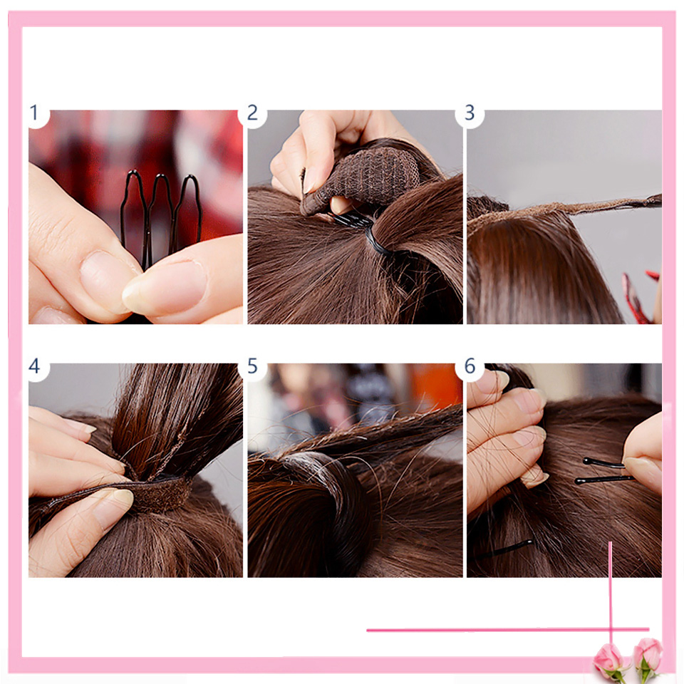 HOUYAN 24 дюймов длинные толстые прямые волосы кудрявые волосы синтетические волокна конский хвост обернутый парик длинный парик конский хвост парик
