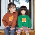 0 - 7 ребенок мода марки лиса-образная смайлик 100% хлопок трикотажные свитера для мальчика и девочка малолетними детьми