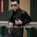 2016 новых мужская кожаная куртка Высокое качество человек локомотив кожа мода популярные кожаная куртка мужчины ml XL XXL XXXL 4 XL
