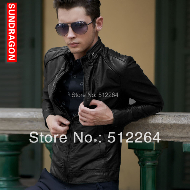 2016 New Men Leather Jacket Top Quality Man Locomotive Leather Fashion Popular Leather Jacket Men Coat M L XL XXL XXXL 4 XL