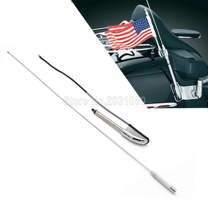 Moto Chrome antenne pour Honda GL1800 2001-2014 moto antenne Kit Audio Navi confort GL 1800 Glodwing