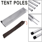 8Pcs 55cm Tent Pole Camping Adjustable Awning Rod Universal Tent Rods Supporting Iron Zinc Plating Tent Replacement Kit
