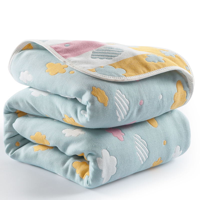 Double-sides Used 100% Cotton Summer Children Bedding Quilt Muslin Baby Sleeping Blankets Safe Soft Breathable Newborns Swaddle breathable bubble thick cartoon kids summer baby quilt blankets soft cotton cloud wings children room blanket bedding 90x130cm