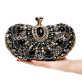 Vintage Beaded Women Evening Bags Rhinestones Wedding Handbags Diamonds Pearl Handle Chain Shoulder Messenger Bags