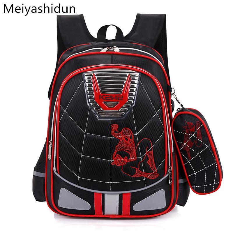 Cartoon Spiderman Orthopedic backpack schoolbags Children backpacks school bag for girls boys kids mochilas escolar infantis sac